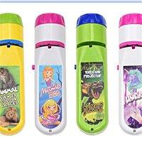 Kinder Taschenlampe Projektor Spielzeug Nette Muster Projektoren Licht Jungen Mädchen Einhorn Tier Fackel ABS Einstellbare Brennweite 7 9CH M2