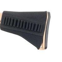 라이플 전술 탄약 홀더 14 라운드 총알 카트리지 Buttstock 캐리어 가방 5.56mm