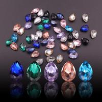 10pcs prego de cristal strass Diamantes Drop Design Flatback Ab Marquise Nail Art Decorações Pedra para unhas 3d fraldas soltas