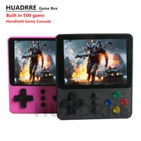 Портативный Retro Vedio Game Console Handheld Game Player 3,0 дюйма построен в 500 в 1 игры Pocket Box Game Console LJ201204