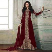 Индия Пакистан одежда женская длинная юбки мусульманской печати благородный и включая хиджаб арабское кимоно исламское роскошное платье