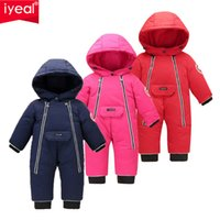 Iyeal الأطفال ملابس الطفل الشتاء snowsuit بطة أسفل رومبير في الهواء الطلق طفل الفتيات وزرة للأولاد أطفال بذلة 1-4 سنوات 201028