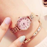 Kimio mulheres pulseira relógios de luxo fino aço inoxidável senhoras relógio rosa cor ouro vestido relógio relógio de pulso com caixa j1205