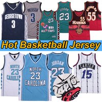 NCAA North Carolina Tar Heels 23 Michael Jersey Tracy 1 McGrady Georgetown Hoyas 3 Vince 15 카터 농구 유니폼