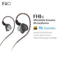 FiiO FH1s Salut-Res + 1BA 1DD (Knowles 13.6mm dynamique) dans l'oreille avec 2pin IEM / 0,78 Câble détachable pour Musique populaire