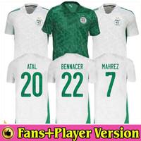 Hayranları oyuncu versiyonu Cezayir Futbol Forması 2020 2021 ev uzaklık Mahrez Bounedjah Feghouli Bennacer Atal 20 21 Cezayir Futbol Gömlek