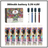 Hoge Kwaliteit COSO Voorverwarmen 3.3-4.8V Variabele Voltage Vaporizer Pen Batterij 510 Draad 380 MAH Voorverwarming Battery Kit E Sigaret Batterijen