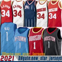 Houstones John 1 Wall Jerseys Throwback Hakeem 34 Olajuwon Jersey Basketball Russell 0 Westbrook Jersey