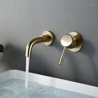 BAGNOLUX fio desenho ouro escondido bacia banheiro torneira bronze redondo orifício de água tomada casa de banho decoração de hotel torneira1