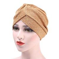 Ropa étnica Sajinbu Jersey Head Bufanda para mujeres Musulmán Hijab Cap Femenino Turbante África Envolver Accesorios islámicos Turbante Bonnet