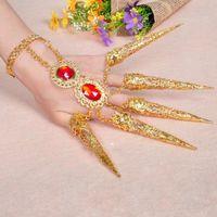 سحر أساور 1 قطعة المرأة الفتاة الرقص الشرقي الرقص الاصبع التايلاندية الذهبي والمجوهرات L4ME