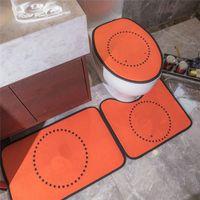 Novas chegadas 3 pcs tapetes de banho não-slip padrão padrão tapete de toalete anti-derrapagem universal de alta qualidade assento tampa do assento