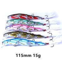 5 colori misto 115 mm 15 g Ganci da pesca Minnow 6 # Gancio esche duro esche B-038