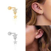 Boucles d'oreilles cartilaginières de piercing de griffes de chat avec diamants pour femmes filles mini boucles d'oreilles mignonnes bijoux