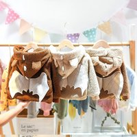 Bebê Outono Inverno Meninos Brasão 2020 New Plush espessamento Fashion Boy roupas casuais confortável E127 Início Brasão