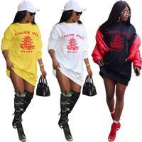 2020 الصيف الأزياء زائد حجم عارضة طويلة الأكمام سترة إلكتروني طباعة اللباس الرياضة هدية للإناث النساء عارضة colorblock اللباس