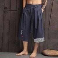 Japonés Kimono Pantalones Tradicionales Hombres Ropa de cama Pantalones recortados Asiáticos Ropa Asiática Baño Pantalón Japón Estilo Casual Pantalones de Yukata