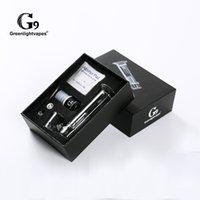 GreenLightVapes G9 Vape Pen 510 Kit de Prego Aquecimento Cerâmico Etail com Filtro de Vidro Deb Bubbler Anexo Fumando Tubulação Portátil e Prego