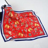 جديد حار بيع وشاح الحرير 53 سنتيمتر حصان مفتاح الملحقات حقيبة صغيرة وشاح مربع صغير الأوشحة الصغيرة