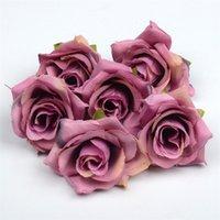 Fiore artificiale Silk Rose Testa di nozze festa di nozze decorazione della casa fai da te corona di scrapbook craft falso rosa fiore EEF3581