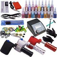Fornecimento de maquiagem permanente 3 Guns Kit Tatuagem Máquina Completa Kit de Piercing Body Piercing Máquina Rotária para Tatuagem
