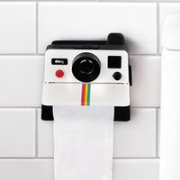 Nueva Caja de tejido de WC Creativo Retro Polaroid Cámara Forma Cajas de tejido inspirado en forma de inodoro Caja de papel Caja de baño Decoración retro Y200328
