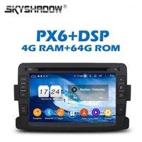 Joueur PX6 DSP IPS Android 9,0 4G + 64G DVD DVD GPS Radio WiFi Bluetooth 5.0 pour Dacia Duster Captur Lada Logan Xray1