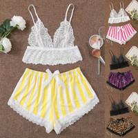 Pijama mujer ropa de dormir femenino lace seda pijamas sexy camisola conjunto de dos piezas ropa para mujer