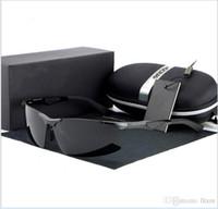 HDCRAFTER 새 편광 선글라스 프레임없는 알루미늄 및 마그네슘 스포츠 운전 거울을 운전하는 미러 라이딩 안경 E300 안경 상자