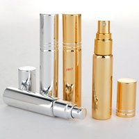 10ml Placage UV Or Black Gold Portable Mini Perfect Perfectures Bouteilles Voyage Maquillage PARFUM ATOMINATEUR ESSOCKISANT EASSAGE 50PCS / LOTGOOD QUALTITYGOO
