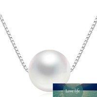 Collana del girocollo della perla d'acqua dolce naturale Donne New Fashion 925 sterling argento fascino lungo collana gioielli VNS8246