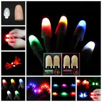 1 par de mágica polegar led luzes novidade truque mágico luzes de dedo para truque proposta festa festa criativa fabricantes de miúdos engraçados