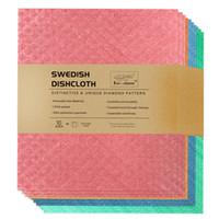 100 % 분해성 인쇄 스웨덴 식기 천으로 셀룰로오스 스폰지 청소 천으로 부엌 천