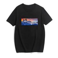 19SS Mens Designer Camisetas De Mangas De Mangas De Algodão O-pescoço Spandex Men's Camisa Slim Soft Men's T-shirt DHBOMC156