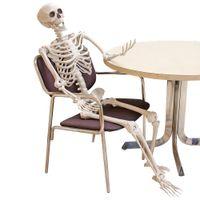 Decorazione piena vita formato corpo posible appeso artificiale scheletro umano scheletro artigianato horror haunted house casa party puntello halloween y201006