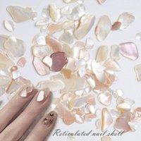 Nail Art Süslemeleri HNUIX 1 Kutu Kabuk Taş Çiviler Glitter UV Jel Polonya Püskürtüler Dekorasyon Aksesuarları