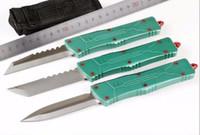 A10 CNC Jedi 7 CR17MOV алюминиевый двойной Action Auto Auto Auto Self Device Folding EDC нож для кемпинга охотничьи ножи