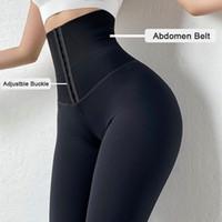 2021 Forme de la tenue de couverture Masquer les pantalons de yoga S-XXXL Taille haute Taille Sports Leggings Femmes Push Up Bulifter Shapewear Slim Tummy Control Culotte de contrôle