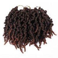 Coiffures de ressort pré-torsadées Twisted Twist Twist 10 pouces 15 Strands Twist Passion Twist Crochet Cheveux 70g PC Noir Marron Bourgogne Ombre Tressant Cheveux