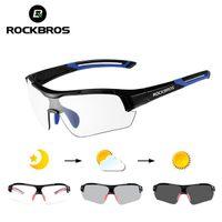 Rockbros bicicleta óculos ciclismo óculos de pesca condução ao ar livre esportes bicicleta óculos de sol fototrômico com miopia frame UV400
