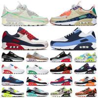 90 men women running shoes Worldwide Trail Multi Light Bone White fahion mens trainers sports sneakers 36-45