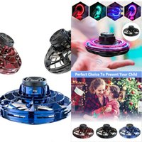 Atlético antiestrés Flynova Mano Mini juguete del vuelo de aviones no tripulados Gyro rotador UFO LED de la persona agitada dedo Spinner Rotary Infantil de Navidad 8DOX regalo