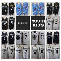 2021 uomini giovani bambini 72 biggie kyrie Irving kevin durant swantman jersey di pallacanestro autentico maglia di brooklynite cucita con tag del logo reale