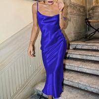 2021 Summer Femmes Modycon Long Midi Robe Sans Manches Sans Backless élégant Tenue de fête Sexy Club Vêtements 011905