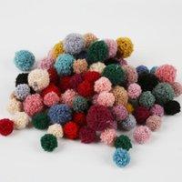 Dekorative Blumen Kränze 15mm 20mm Weiche Pompom Flauschige Plüsch Handwerk DIY Pom Poms Ball Furball Nähen Auf Tuch Zubehör Hochzeit Decorat