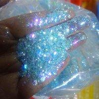 # 7 200g / 500G русалка блеск, Baby Blue Glitter (цветной сдвиг) ногтей глиттер голографическая смешанная смешанная смешанная размера