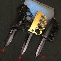 للطي المعطي وظيفة قابلة للطي سكين النحاس المفاصل في الهواء الطلق التخييم الدفاع عن النفس أداة سكين سكين الفولاذ المقاوم للصدأ HHE4132
