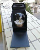 CCLASSICS Golden Globe de neige Golden avec une bouteille de parfum à l'intérieur de 2019 Ballon de cristal de neige pour anniversaire spécial Novelty Noël cadeau VIP avec boîte-cadeau
