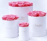 Eternal Flowers Holding Secchio Benna San Valentino Confezione regalo Rose Decorative Flower Flower Girlfriend Moglie Festival romantico presente