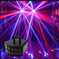DMX 30W LED Doppelschicht Schmetterlingseffekt Bühnenbeleuchtung Sprachaktivierte Bar KTV DJ Disco Party Lights RGBW Strahlscanner Licht